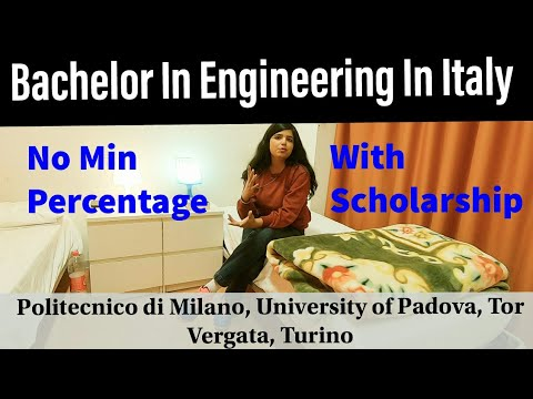 Bachelor in Engineering In Italy, Admission open, Process, S