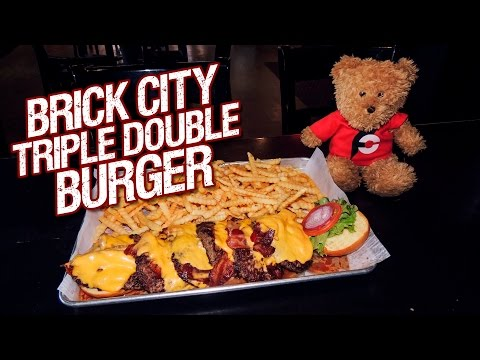 TRIPLE DOUBLE FOOD CHALLENGE IN IOWA!!