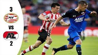 PSV vs AZ ALKMAAR  3-2   RESUMEN Y GOLES   DEBUT OFICIAL DE CHUCKY LOZANO