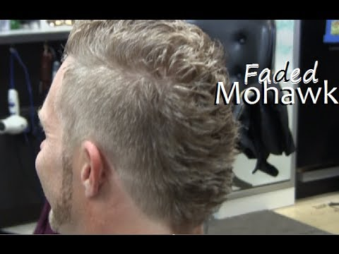 Mens mohawk hairstyle fade haircut video / Clipper cut on Blonde ...