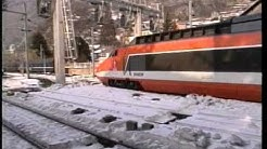 Moutiers Station France TGV and other trains at the 1992 Olympics.mpg
