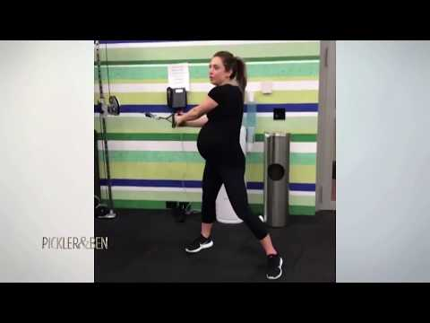 Ginger Zee is 9 Months Pregnant and Working Out Like a Boss! - Pickler & Ben