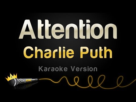 Charlie Puth  Attention Karaoke Version