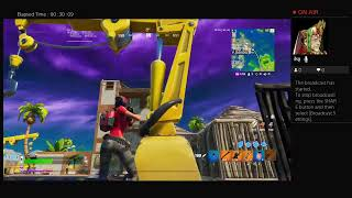fortnite playing the test tournement