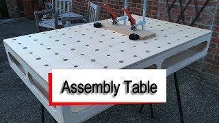 Building the Assembly table from our previous Sketchup video. Compact Assembly Table made from a single 8x4 sheet of plywood.