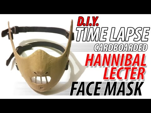 "DIY Hannibal Lecter Cardboard Face Mask ""GREAT"" Full Time lapse"