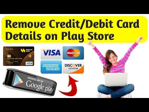 How To Remove Payment Method From Google Play Store || Delete Credit /Debit Card Details ||