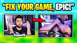 SypherPK FREAKS OUT After Dying To Phasing Glitch (fr) Fortnite Daily Funny Moments Ep.351