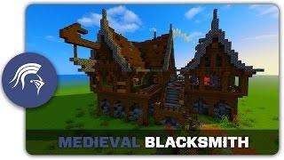 minecraft medieval blacksmith build building tutorial