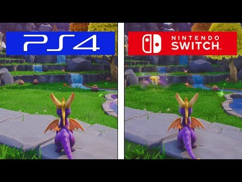 Spyro Trilogy | PS4 vs Switch | Graphics & Framerate Test Comparison