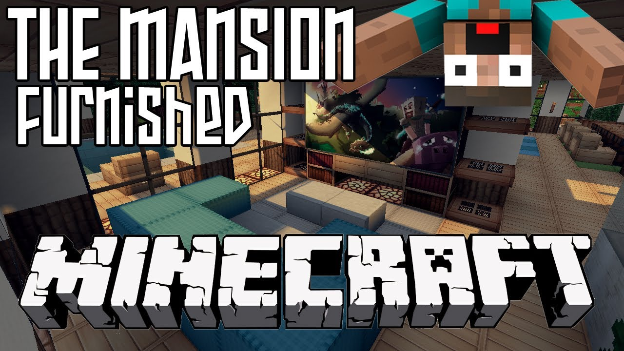 minecraft mansion hd furnished interior youtube