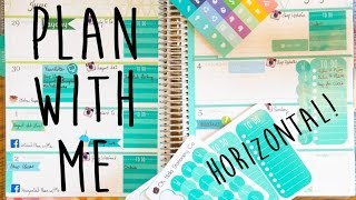 Plan with Me | First Horizontal Layout