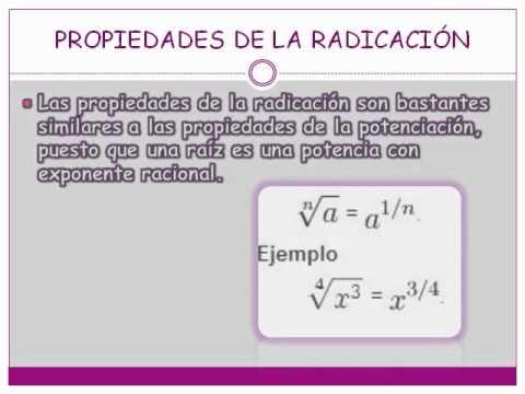 Propiedades de la Radicación - YouTube