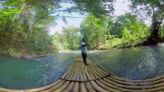 Bamboo Rafting in Jamaica - 360 Video thumbnail