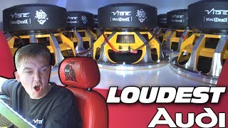 LOUDEST AUDI Subwoofer Sound System w/ Vibe Audio BASS Subwoofers & Custom Fiberglass Car Speakers
