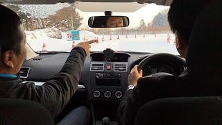プロラリーストが冬道運転指導 札幌で講習会 (2017/12/17)北海道新聞 杉山央 動画 15