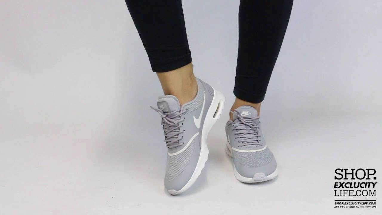 women's nike white & silver air max thea trainers