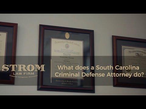 What does a South Carolina Criminal Defense Attorney do? | Strom Law Firm, LLC