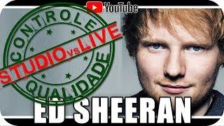 ED SHEERAN Studio vs Live CONTROLE DE QUALIDADE - Marcio Guerra Reagindo React Reação Humor Pop