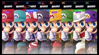 Super Smash Bros Ultimate Amiibo Fights   Request #7826 4 team Mario battle