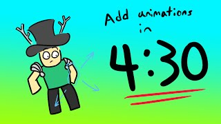 [ Follow all steps! ] TUTORIAL: How to add Animations to Your Game in 4:30 on ROBLOX