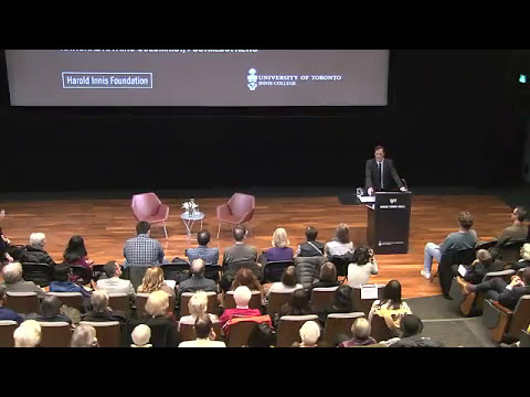 2017 Harold Innis Lecture with Andrew Coyne