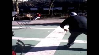 Table jump Fail at new york giants super bowl parade