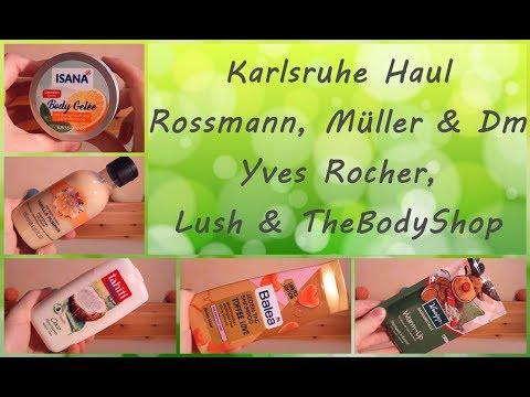 Karlsruhe Haul | Rossmann, Müller & Dm | Yves Rocher, TheBodyShop & Lush | FranzisBeautySecrets