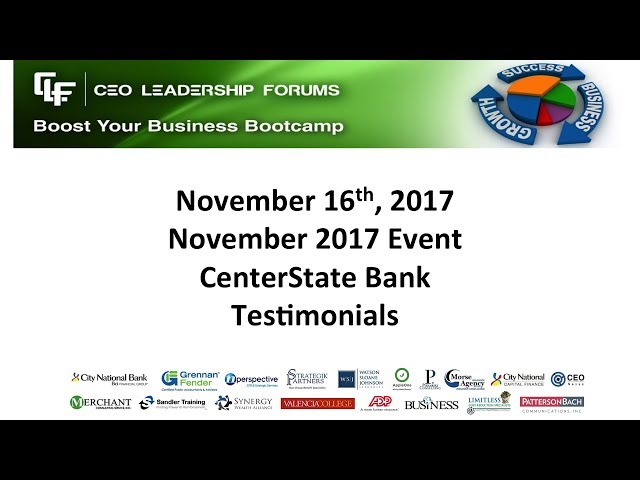 Testimonials CEO Leadership Forums November 2017 (Extended)