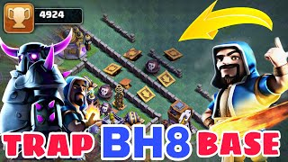 BEST BH8 TRAP BASE 2018 w/PROOF | BEST Anti 2 Star Builder Hall 8 Base Layout 2018 | Clash of Clans