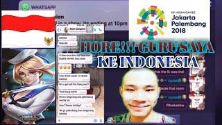 ZXUAN ke INDONESIA!!! nonton asia games 2018GURU jess no hair