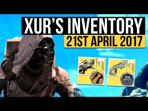 Destiny | Xur Location, Exotic Bundles & Inventory - 21st April 2017 (Age of Triumph - Week 137)