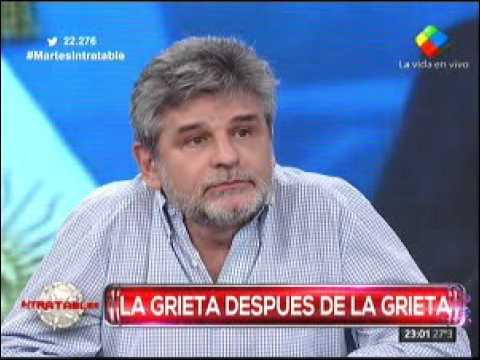 Mengolini y Vilouta se cruzaron por el tema Víctor Hugo Morales