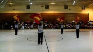 Jenkins High Color Guard @ The Dillon High School Band Gym Jamboree