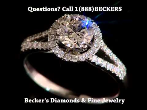 Halo Diamond Engagement Rings at Becker's Diamonds and Fine Jewelry West Hartford CT