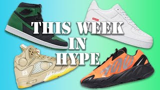 THIS WEEK IN HYPE // TRAVIS SCOTT SB RELEASE INFO, NEW OFF-WHITE AJ5 & A NEW SUPREME NIKE AIRMAX!