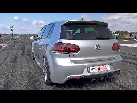 800HP Volkswagen Golf 6 R R32 Turbo 4Motion 1/2 Mile Drag Race