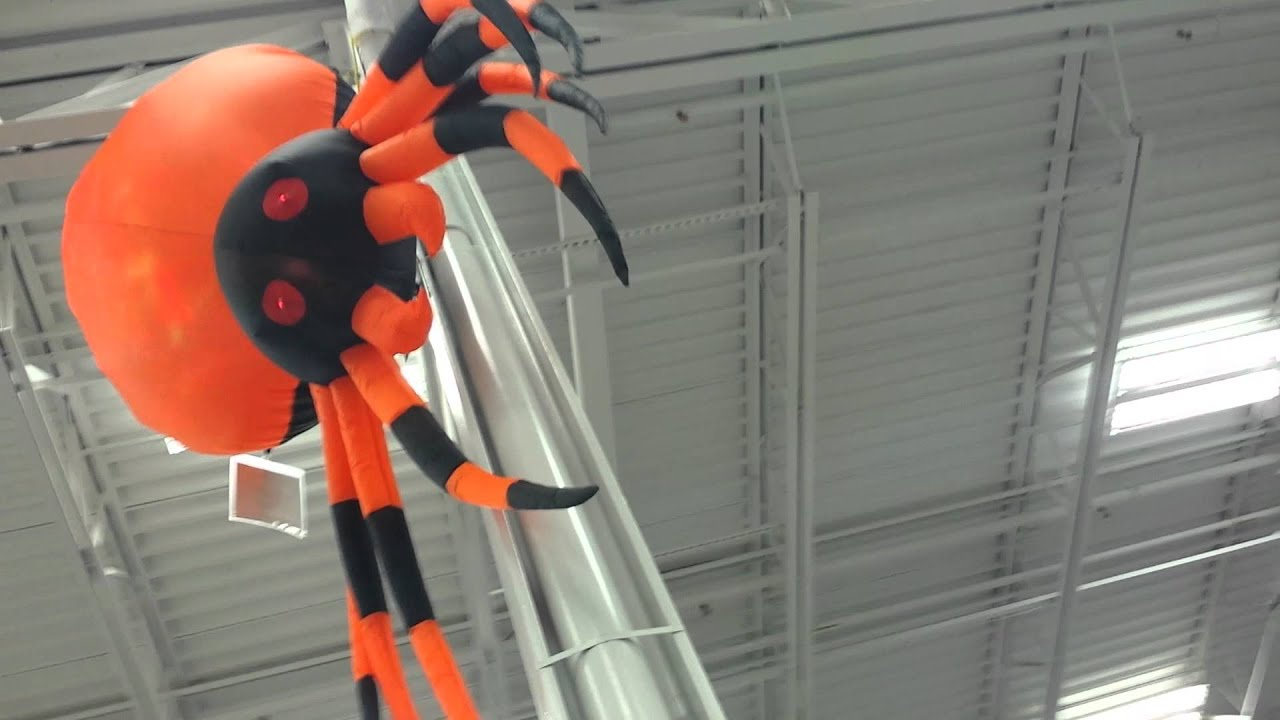 lowes 2014 giant inflatable fire ice yard spider youtube - Lowes Halloween Decorations
