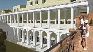 Рим восстановленный 01 Палатин и Римский форум  Rome recovered 01 Palatine Hill and Forum Romanum