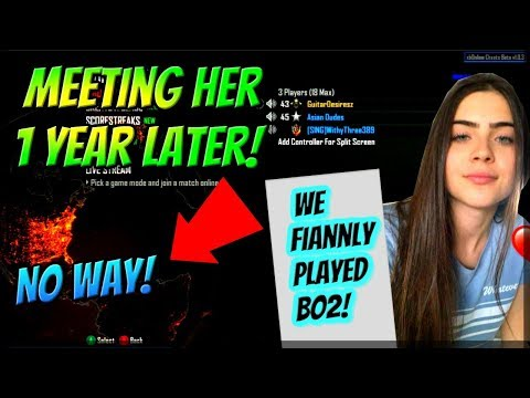 Black Ops 2 Meeting Cute Girl 1 Year Later! (We Finally Played Bo2!) Live Reaction!
