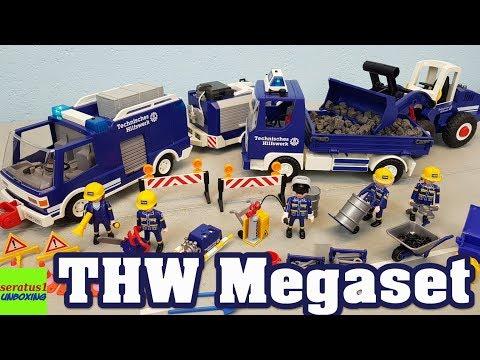 Playmobil THW Megaset 4082 auspacken seratus1 unboxing Technisches Hilfswerk