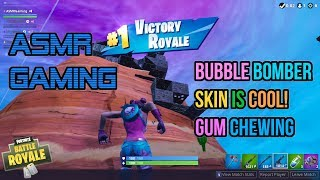 ASMR Gaming | Fortnite Bubble Bomber Skin Is Cool! Gum Chewing 🎮🎧Controller Sounds + Whispering😴💤