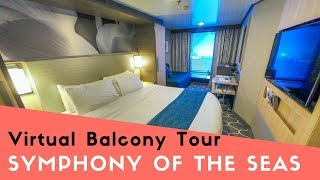 Symphony of the Seas Interior Cabin with Virtual Balcony Tour #7420