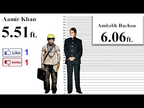 Aamir Khan Height Comparison with 35 stars