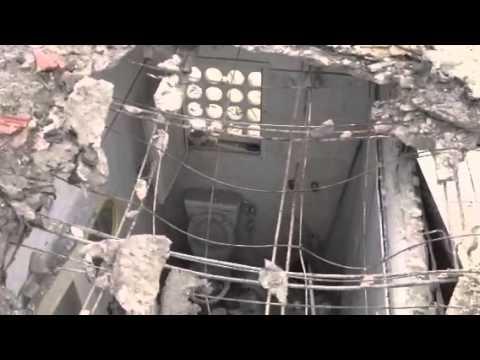 Iranian Gaza Grad missile explode onto the Zohar family