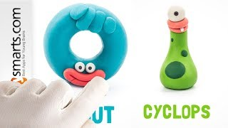 Hey Clay Donut and Cyclops (Hey Clay Monsters game demo for kids)