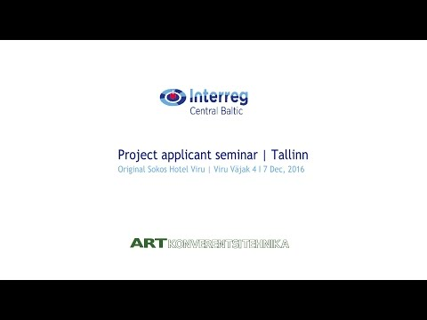 Project applicant seminar from Tallinn Sokos Hotel Viru