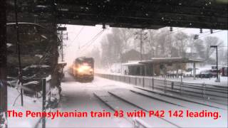 The Pennsylvanian Train 43 in the snow