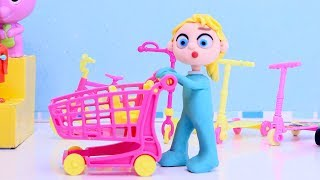 Superheroes shopping stop motion cartoon video