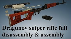 Dragunov sniper rifle: full disassembly & assembly
